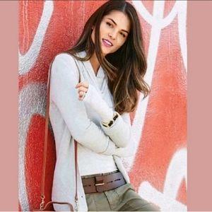 CABI #3161 Shirttail Sweater Cardigan